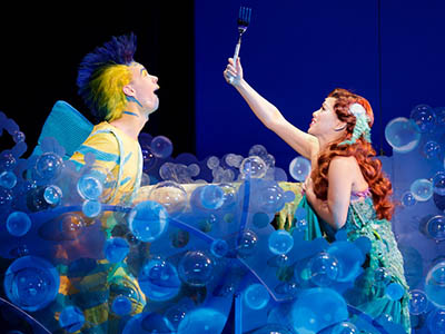 Pictured is alumnus Connor Russell as Flounder. Photo | Mark & Tracy Photography