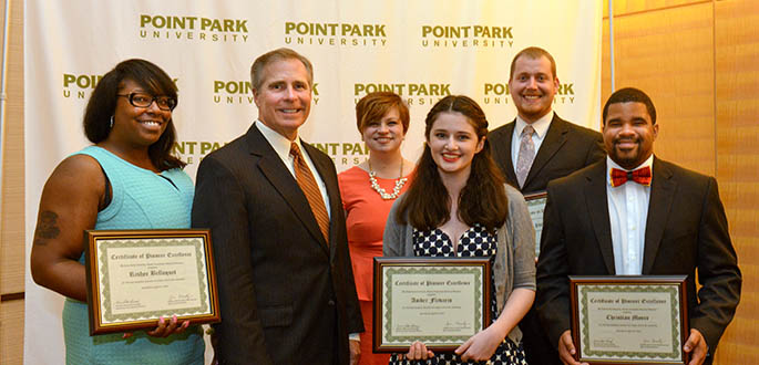Point Park University hosted its annual Outstanding Student Awards banquet at the Fairmont Pittsburgh on Friday, April 22. Photo | Jim Judkis