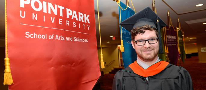 Pictured is Master of Science in environmental studies graduate Gregory Lowden. | Photo by Chris Rolinson
