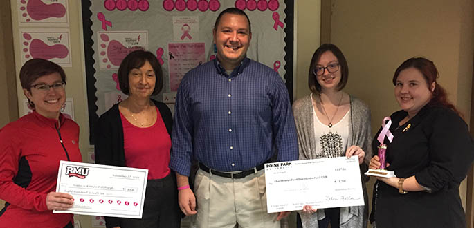 Point Park students raise money for Susan G. Komen Pittsburgh. Submitted photo