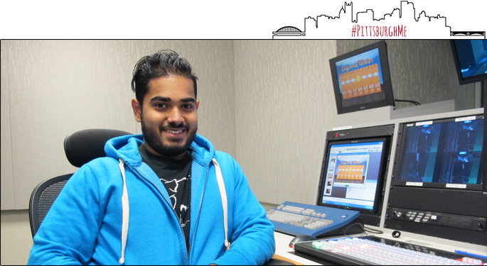 Pictured is Don Noel Ranasinghe, broadcast production major. | Photo by Victoria A. Mikula