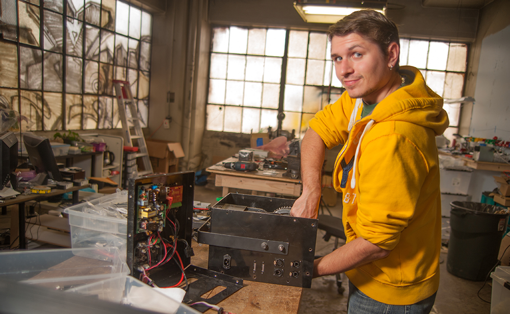 Pictured is mechanical engineering technology alumnus Jacob Rumski. | Photo by Chris Rolinson
