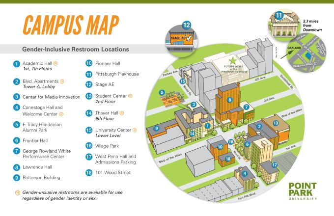 Point Park University Campus Map Kidscare Store