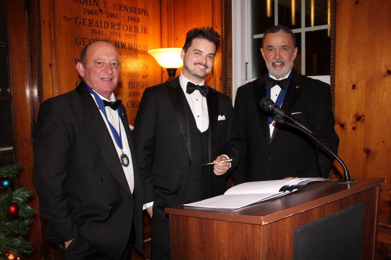 Pictured left to right are Michael Botta, Tim Stebbins and Gregory Rogers. | Photo by The Institute of World Politics.