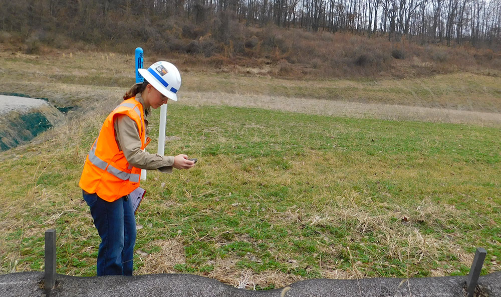 Pictured is Hana Rydl working in the field. Photo submitted by Rydl.
