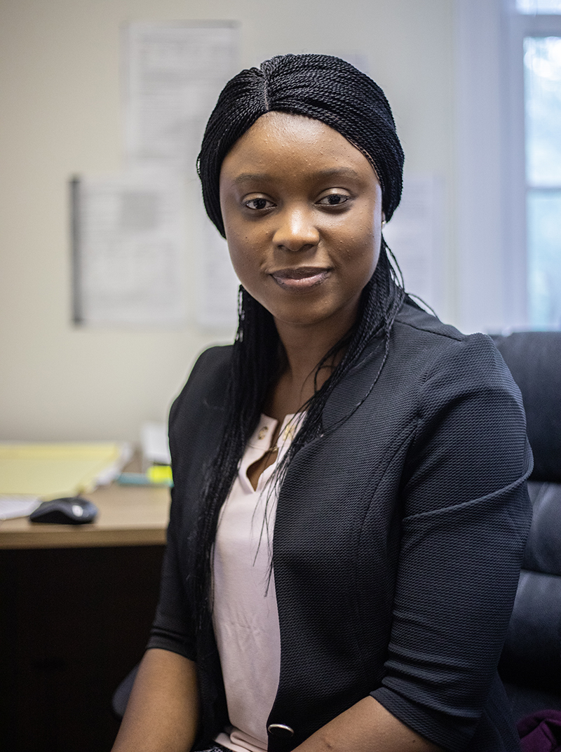 Pictured is M.S. engineering management alumna Adebomi Enitan. Photo by Hannah Johnston