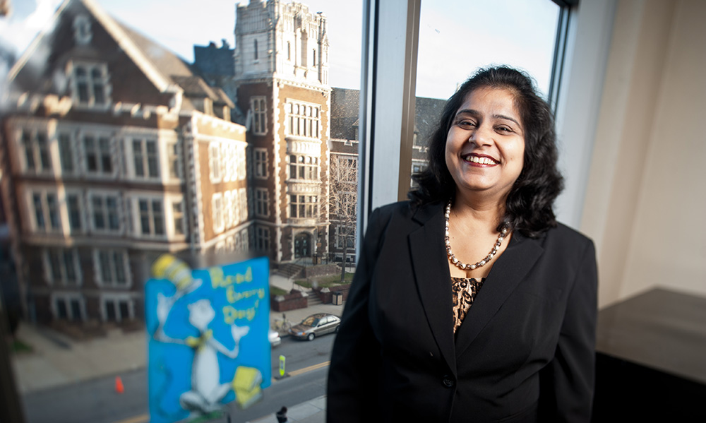 Pictured is education graduate Preeti Juneja. Photo by Chris Rolinson