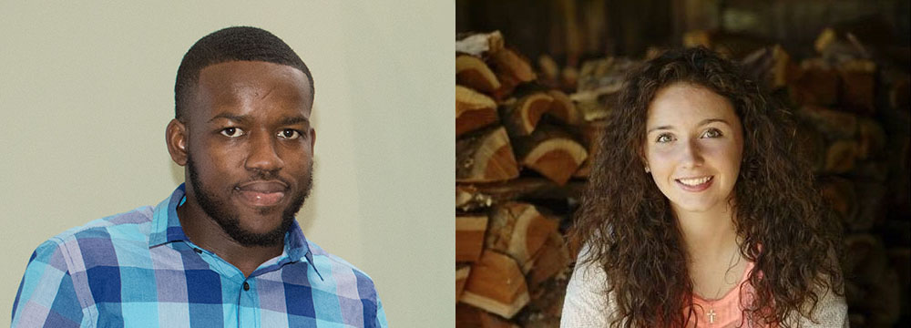 Pictured are headshots of accounting students Andre Bennett and Jenna Herman. Photos submitted by Bennett and Herman.