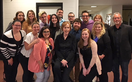Pictured are SAEM students with Carol Burnett at Heinz Hall. Photo submitted by Ed Traversari.