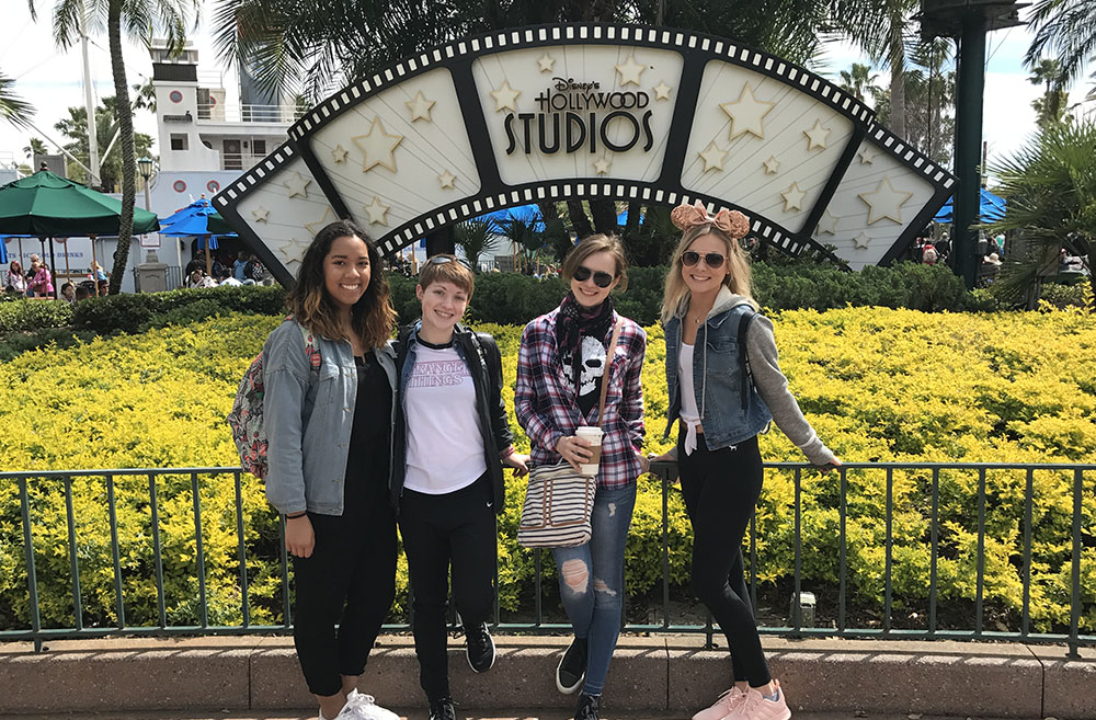 Pictured are Point Park business majors at Hollywood Studios.