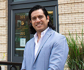 Pictured is M.B.A. alumnus Guillermo Velazquez. Photo by Brandy Richey