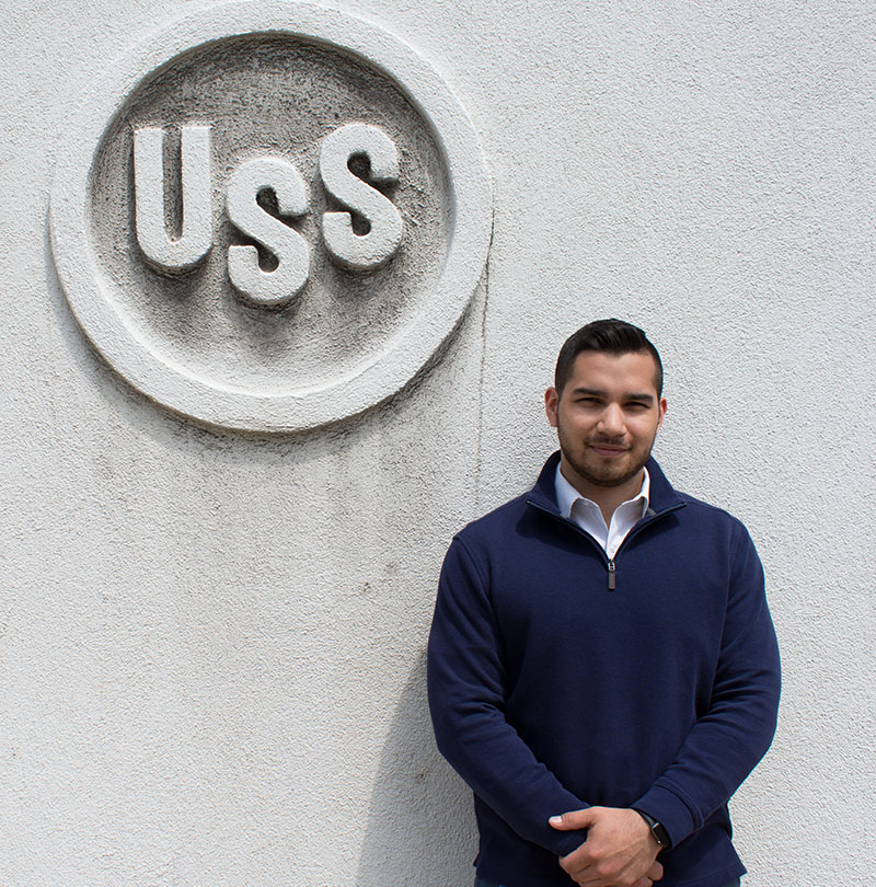 Pictured is IT alumnus and M.B.A. student Jose Flores. Photo by Brandy Richey.