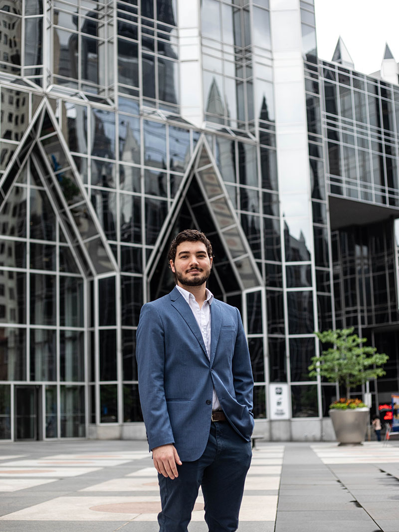 Pictured is business management alumnus and MBA student Andrew Duncan. Photo by Hannah Johnston