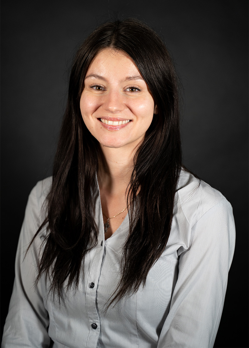 Pictured is business management co-op student Laura Draghiciu.