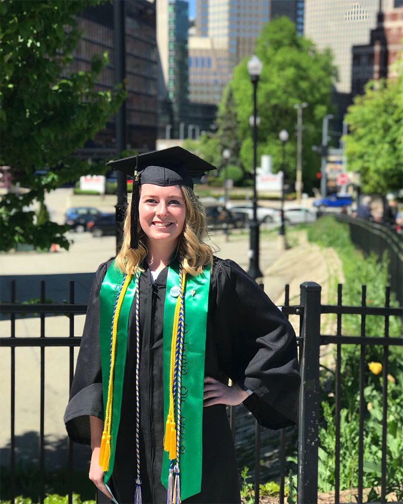 Pictured is accounting alumna Madeline King. Photo submitted by King.