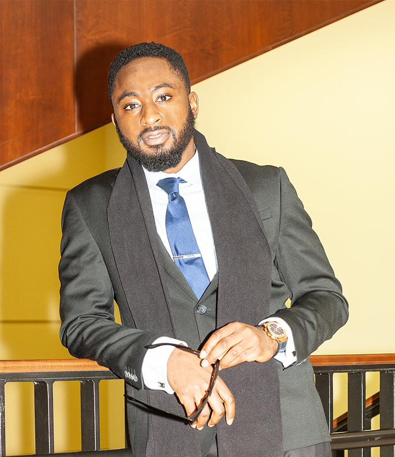 Pictured is MBA alumnus Nuhu Okikiri. Photo submitted by Okikiri.