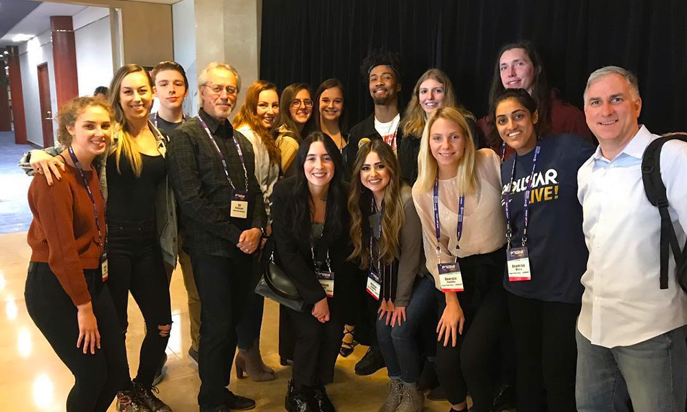 Pictured are SAEM students at the 2019 Pollstar Live! Conference. Photo submitted by Ed Traversari