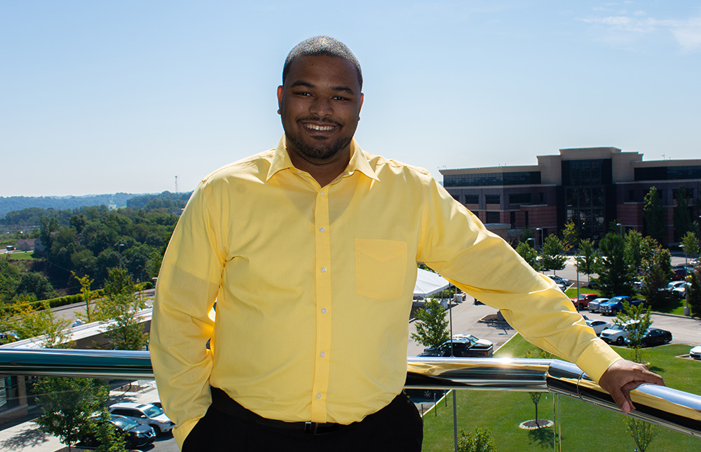 Pictured is MBA alumnus Michael Banks. Photo by Brandy Richey.