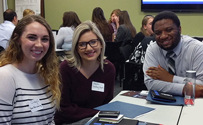 Point Park University HR management students at the Pittsburgh Human Resources Association's Stations to Success Student Networking event.