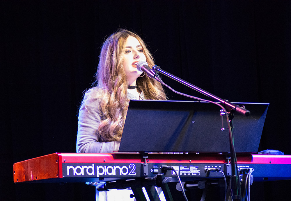 Pictured is Allissa Logsdon performing at the Women Who Rock Contest at iHeart Media. Photo by Brandy Richey.