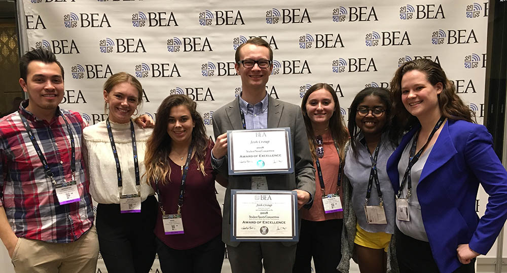 Point Park University students at the 2018 Broadcast Education Association Conference in Las Vegas. Submitted photo
