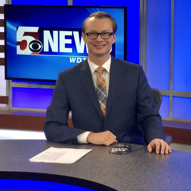 2018 Alumnus Josh Croup is an Anchor/Reporter for WDTV