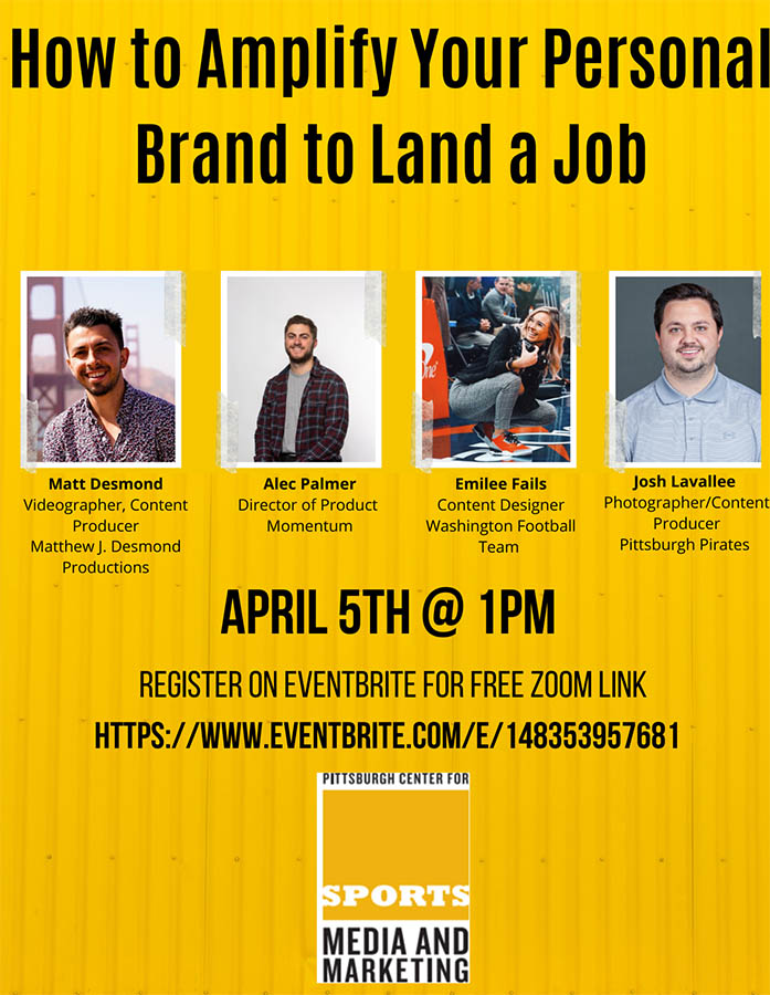 The flier for How to Amplify Your Personal Brand event.