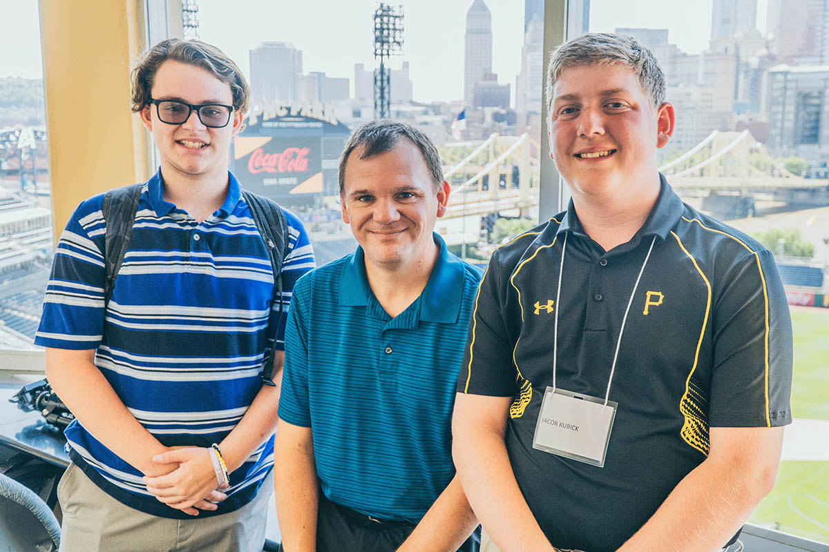 A behind-the-scenes tour of PNC Park with Dan Hart '97, '99, director of media relations, Pittsburgh Pirates.