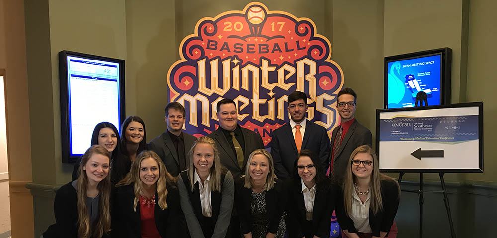 Point Park University students at the 2017 Baseball Winter Meetings.