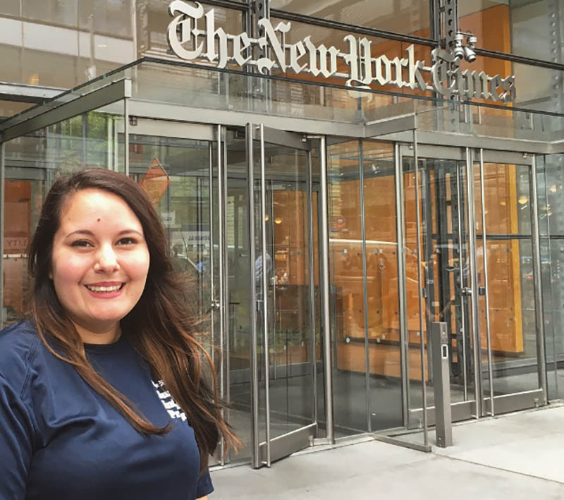 Pictured is Sabrina Bodon at The New York Times. Submitted photo
