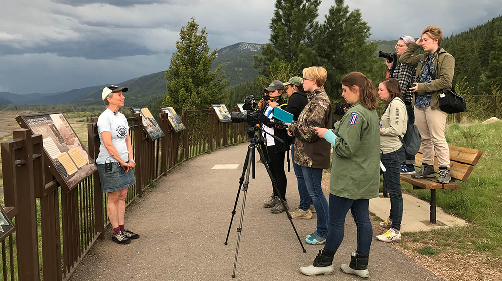 Point Park students in Missoula, Montana to document an ongoing clean-up of the Upper Clark Fork River. Submitted photo