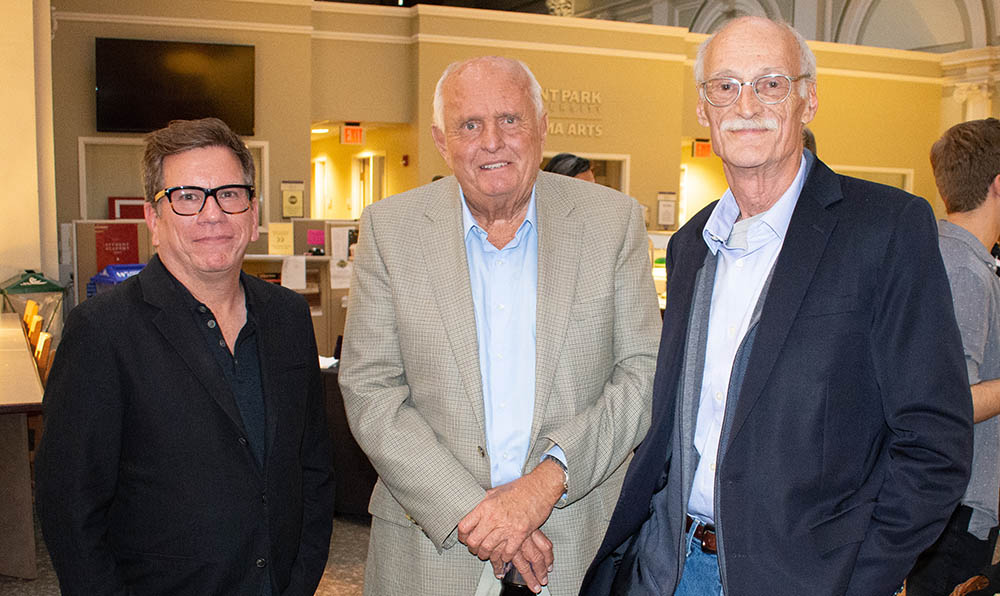 Bob Ducsay, Gray Frederickson and Robert Miller at Point Park University's 2018 Cinema Arts Showcase