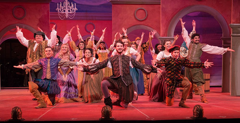 The cast of Kiss Me Kate by the Conservatory Theatre Company. Photo | John Altdorfer