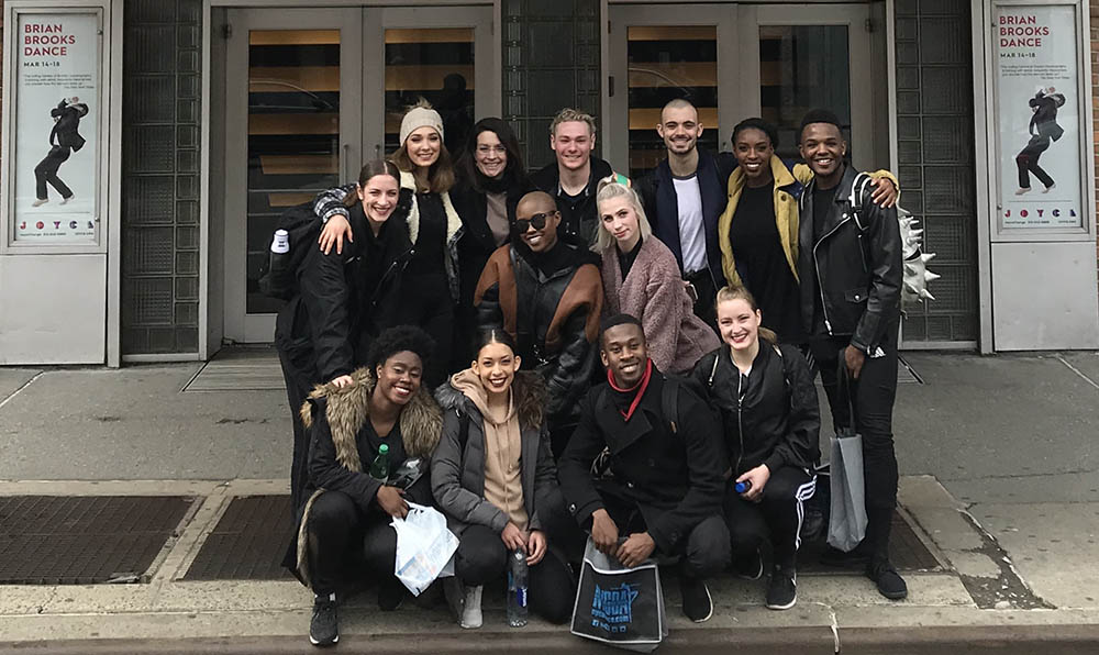Point Park University students outside of the historic Joyce Theater in New York. Photo | Floyd McLean