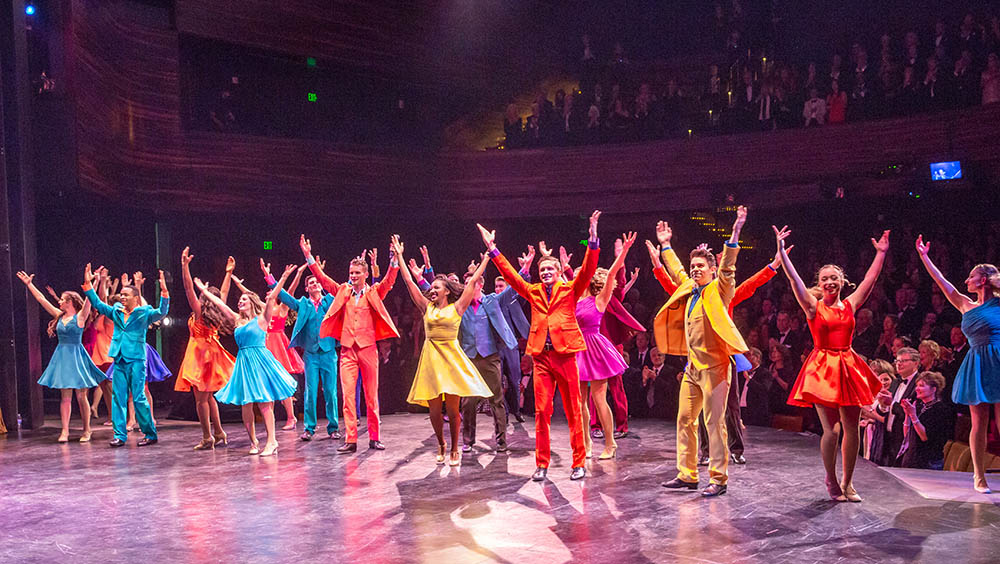 Point Park students perform on the PNC Theatre stage in the award-winning Pittsburgh Playhouse. Photo | John Altdorfer
