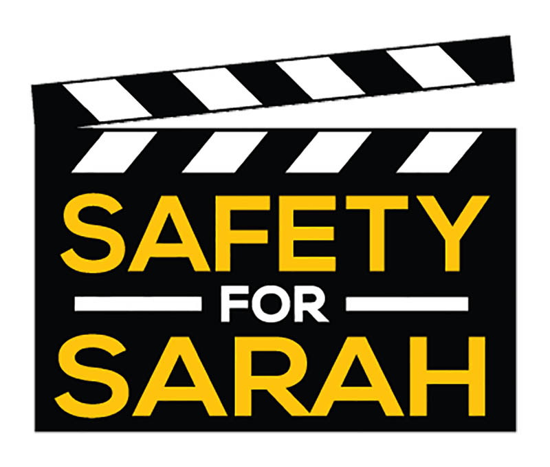 The logo for the Sarah Jones Film Foundation, which advocates for safe conditions on film sets.