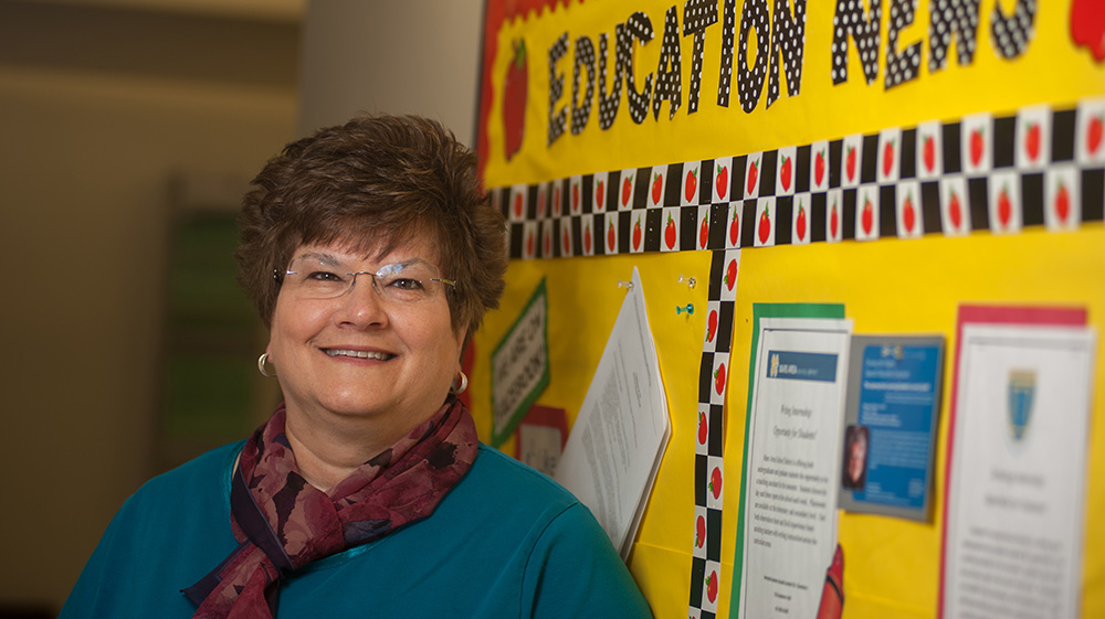 Pictured is Arleen Wheat, Ed.D., associate professor of special education.