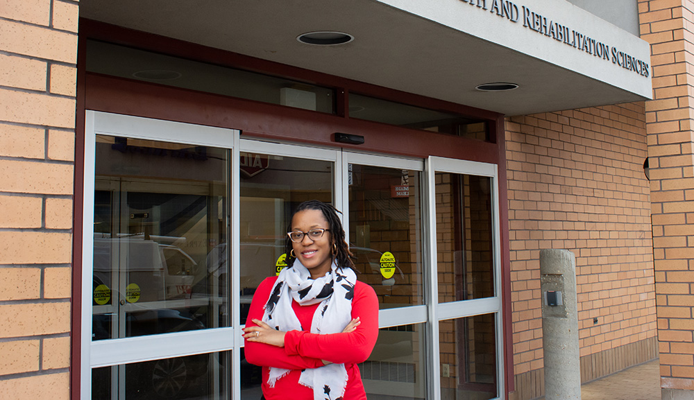 Pictured is Ed.D. alumna Channing Moreland. Photo by Brandy Richey