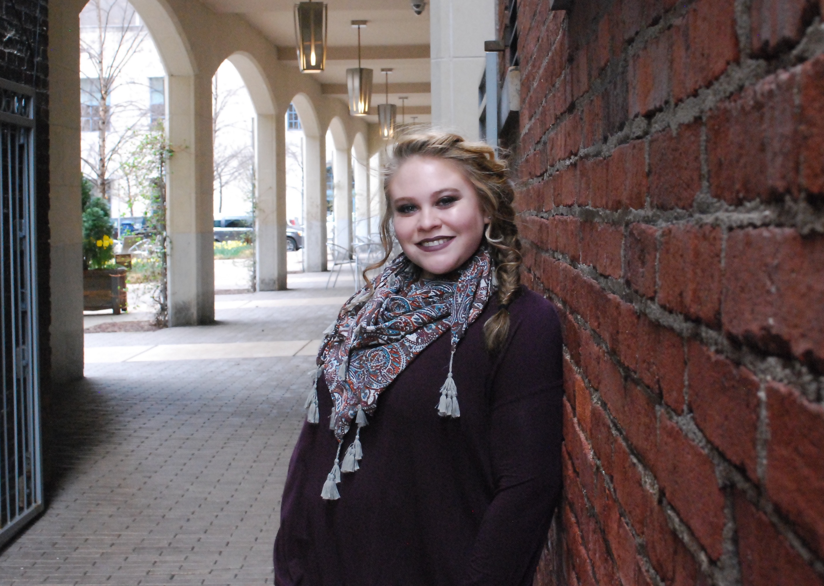 Pictured is Mary Moses, Creative Writing Major