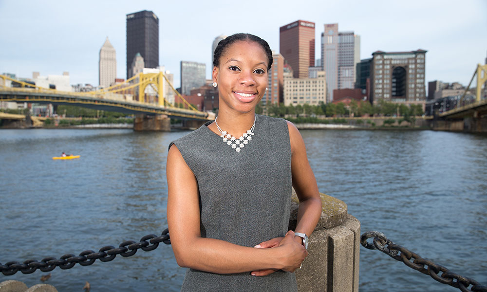 Pictured is Point Park alumna Amber Mole.